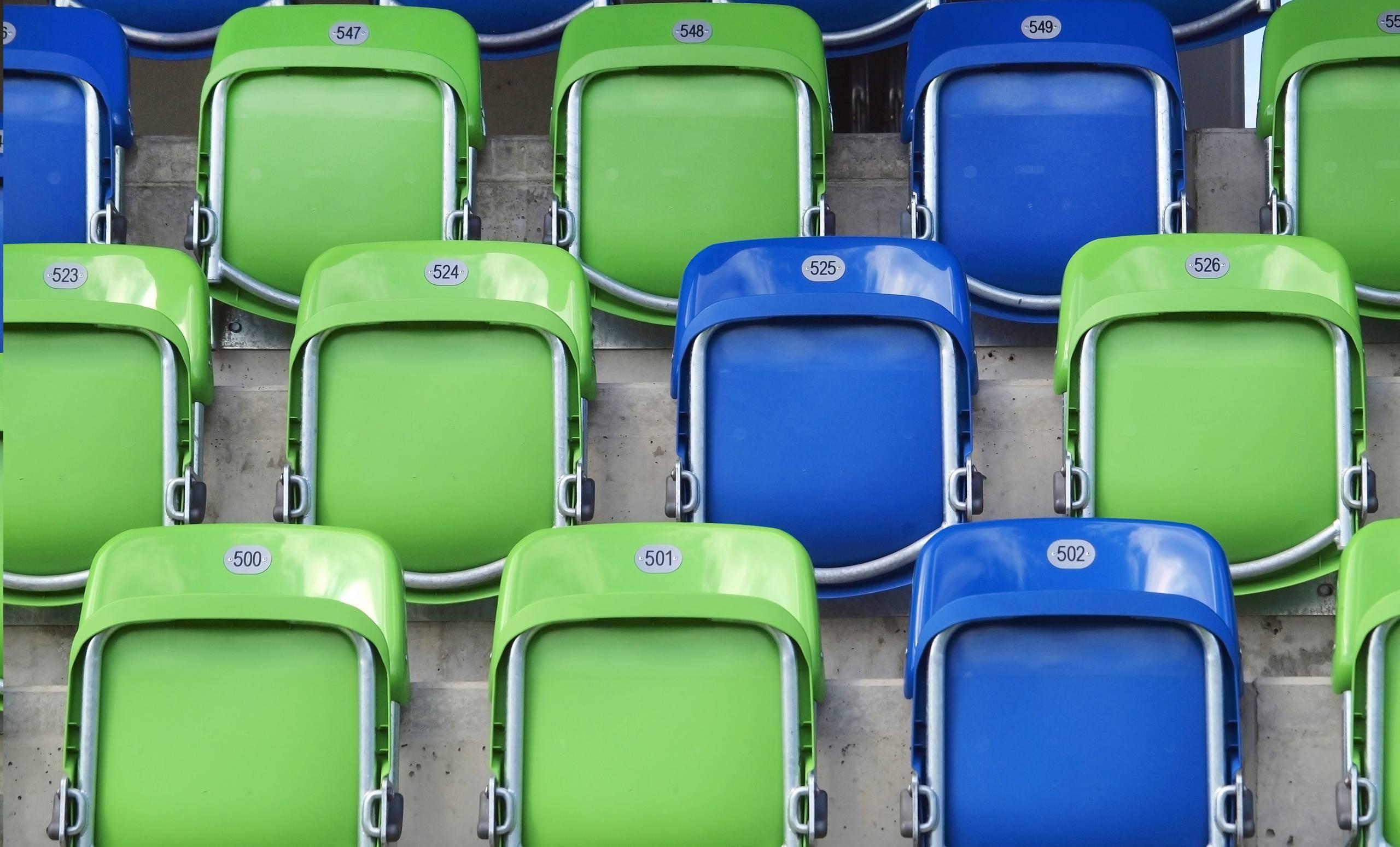 Photo of empty seats